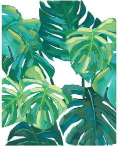 Monstera Leaf Wall Art Print #artideas