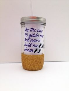Glitter Dipped Quote Mason Jar Tumber Be the by MyDarlingPretties, $20.00