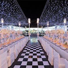 amazing lighting- a Preston Bailey reception