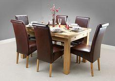 69969f724b Dorset Natural Solid Oak Dining Set - 4ft 7