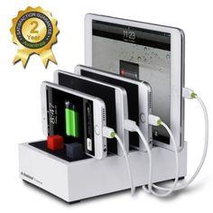 Avantree Centralina di ricarica ciabatta USB HUB Super Veloce Charging Station da tavolo con gestione dei cavi per universale per Smarphone e Tablet (Nero): Amazon.it: Elettronica