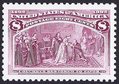 United States Scott #2627b (22 May 1992) Columbus Restored to Favor.