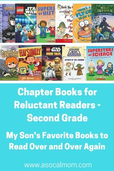 Roundup of Books for 7 year old boys who are reluctant readers.