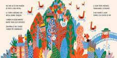 Jana Glatt | BOOKMeu bairro é assimText : : César ObeidEditora ModernaBrasil, 2016 Children's Book Illustration, Character Illustration, Graphic Design Illustration, Kitty Crowther, Book Layout, Illustrations And Posters, Pictures To Paint, Cool Drawings, Book Design
