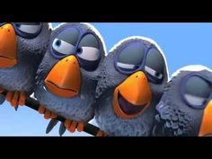 In this short film, the birds are unable to verbally say what they are thinking. But- they show it through nonverbal communication such as when the little birds are making fun of the big bird, or rolling their eyes and moving away from the big bird, which makes it apparent that they do not like him. When they lose their feathers and hide, it shows that they are obviously embarrassed.