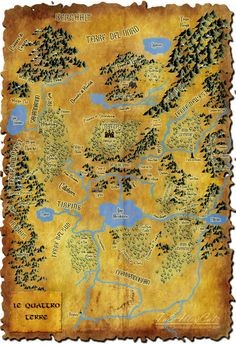 My version of the map from Terry Brooks's Shannara saga.