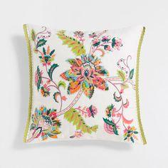 Imagen del producto Funda de cojín lino bordado con aplique