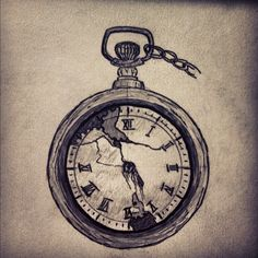 pocket watch tattoo - have an old one from way back in the family, that'd be nice and sentimental