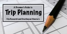 Trip research and creating an itinerary doesn't have to be a stressful process! Check out A Dreamer's Guide to Trip Planning to help you plan your trip!