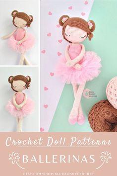 Ballerina Crochet Doll Pattern, 14,5 inches - 37cm Amigurumi Doll Pattern, Ballerina Skirt, Tutu Diy Ballerina Rosie, Amigurumi Crochet Pattern. Ballerina Crochet Doll Pattern 14,5 inches - 37cm This is a DOWNLOADABLE TUTORIAL. Written in English. Using US terminology.