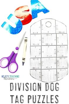 If you're on the lookout for Veterans Day activities for kids, elementary students LOVE these DIVISION dog tag identification puzzles. Use them at any time of year for military celebrations and thanks. There's a FREE download in the post, plus book ideas, & more. Perfect for your 3rd, 4th, and 5th graders. (third, fourth, fifth grade) #VeteransDayActivities #ThirdGradeMath #FourthGradeMath #FifthGradeMath #VeteransDay Veterans Day Activities, Activities For Kids, Fifth Grade Math, 5th Grade Classroom, Maths Puzzles, Remembrance Day, Day Book, Division, Dog Tags