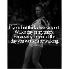 Cheer qoutes, cheer sayings, funny cheer quotes, cheer funny, funny Funny Cheer Quotes, Cheer Qoutes, Cheer Funny, Sport Quotes, Cheer Sayings, Cheerleading Cheers, Cheerleading Quotes, Cheer Coaches, Competitive Cheerleading