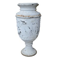 Large Wrought Iron Garden Urn