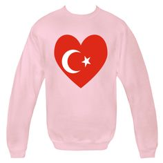 Fun design features a heart shaped Flag of Turkey or Turkish Flag. Great for hooring and sharing your ethnic ancestry, heritage and culture on Valentine's Day or any special time. $29.99 ink.flagnation.com