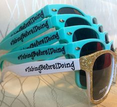 Mermaid Squad personalized Sunglasses for your bachelorette party/last night out/girls trip/squad/beach bash/mermazing bachelorette/beach Beach Bachelorette, Bachelorette Party Themes, Bachlorette Party, Float Trip Ideas, Pre Wedding Party, Wedding Ideas, Wedding Koozies, Canoe Trip, Showers