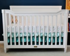 ruffled tiered crib skirt in variegated hues. Super cute - links to a how to.