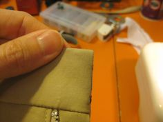 Perfect corners on waistbands