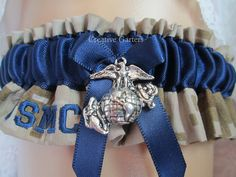 Single US Marines garter with USMC embroidered by CreativeGarters