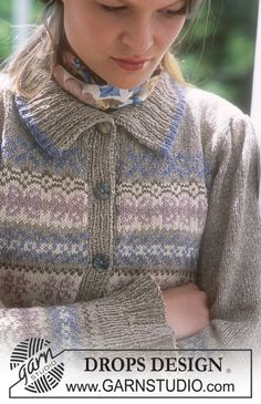 DROPS Cardigan in Silke-Tweed and Alpaca. ~ DROPS Design