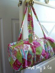 Tutorial: Make a kid-sized duffle bag · Make this a ballet bag for Ella!