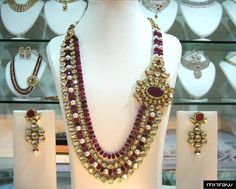 Beautiful necklace set with matching pair of earrings.