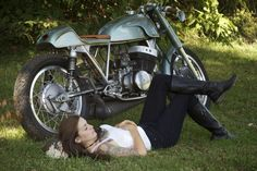 """motorcycles-and-more: """" Biker girl & Cafe Racer"""""""