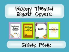 6 Free Binder Covers for your life science units!