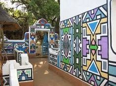 ndebele houses - Google Search African Theme, African Art, African House, Vernacular Architecture, African Culture, Pattern And Decoration, African Design, Environmental Art, Pattern Art
