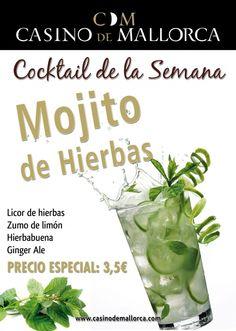 Herbal Mojito on the terrace overlooking Palma de Mallorca´s Bay