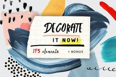 Decorate it now! by Lera Efremova on @creativemarket