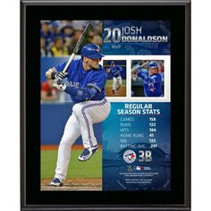 Josh Donaldson Toronto Blue Jays Fanatics Authentic 10.5'' x 13'' 2015 American League MVP Sublimated Plaque - $29.99