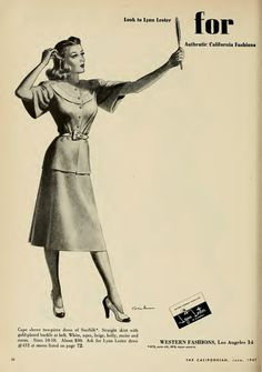 1940s fashion advert