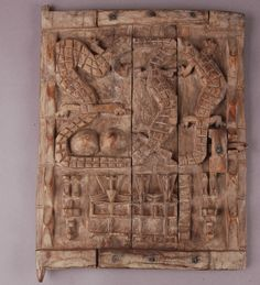 Africa | Antique Dogon Granary Door | Mali | Carved wood.