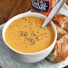Beer Cheese Soup—the perfect fall mix!
