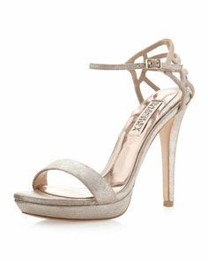 Viveka Shimmer-Strap Sandal by Badgley Mischka. $61 (reg$215)