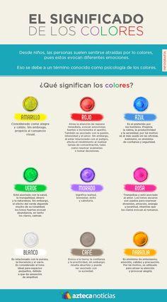 El significado de los colores #infografia