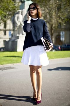 Street style from Paris S/S 2013. Get more outfit inspiration http://www.vogue.com.au/fashion/street+style/galleries/street+style+from+paris+fashion+week+spring+summer+2013,21367#