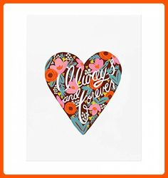 "Rifle Paper Co. 8 x 10 ""Always and Forever"" Art Print - Fun stuff and gift ideas (*Amazon Partner-Link)"
