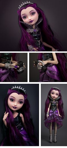 Raven Queen ♚ Ever After High Repaint Custom Doll OOAK Spin Off Monster High | eBay