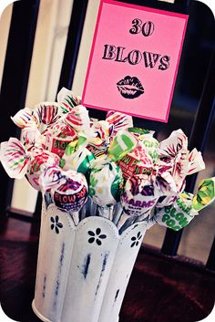 Blow pops for 30 blows or suckers for 30 sucks