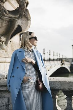Damsel in Dior | Baby Blue Coat for Spring