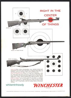 Buy 1958 WINCHESTER Model 75 Target Rifle AD: GunBroker is the largest seller of Other Collectibles Collectibles & Militaria All Winchester Firearms, Rifle Targets, Guns, Advertising, Articles, Pistols, Hawks, Weapons, Model