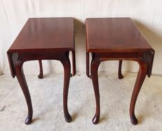Vintage Mahogany Drop Leaf Side Table with Cabriole Legs $195 each