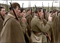 Polish soldiers of the Independent Podhale Rifle Brigade taking the oath in Malestroit, Brittany, France. April 10, 1940