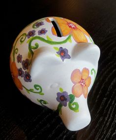 Cute painted piggy bank