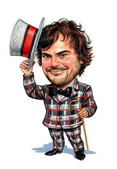 Jack Black - via Celebrity Caricatures Pictures : theBERRY