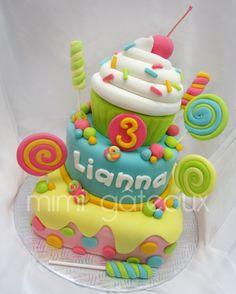 Whimsical Children's Birthday Cake