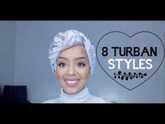 8 Turban Styles Tutorial || كيف البس التوربن - YouTube Mode Turban, Turban Hijab, Turban Headbands, Turbans, Headscarves, Turban Tutorial, Hijab Style Tutorial, Doek Styles, Street Hijab Fashion