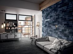 Interior Design colour trends 2017. Camp from Grestec Tiles #interiordesign #interiorstyling #navy #navyblue #wall #tiles #diesel #dieselliving