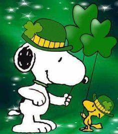 Snoopy & Woodstock - St. Patrick's Day